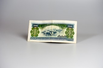 A 1000 KIP-note From Laos