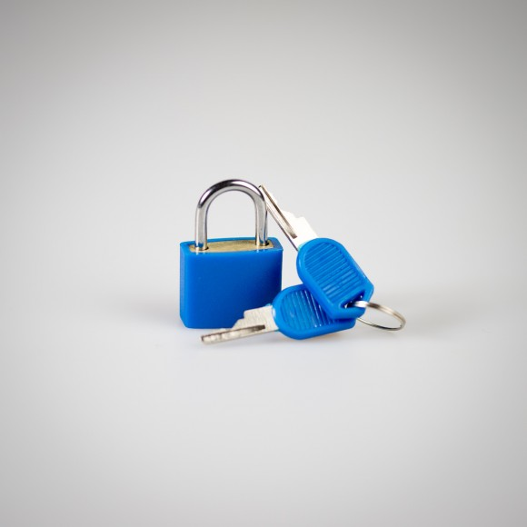Blue Diary Lock with keys